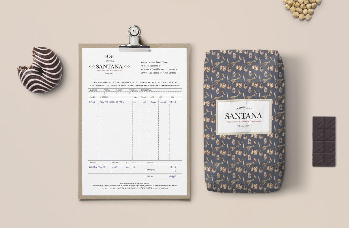 Identidad corporativa Comercial Santana