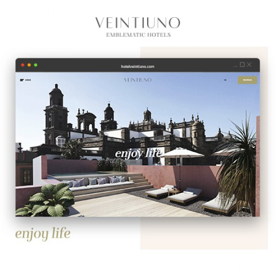 Veintiuno - Emblematic Hotels web design