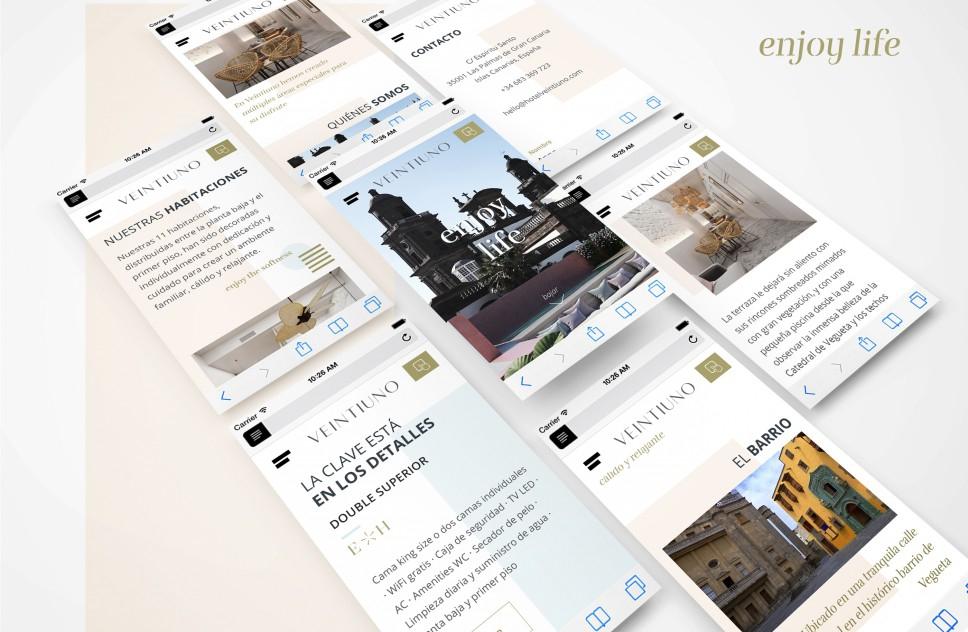 Diseño web Veintiuno - Emblematic Hotels