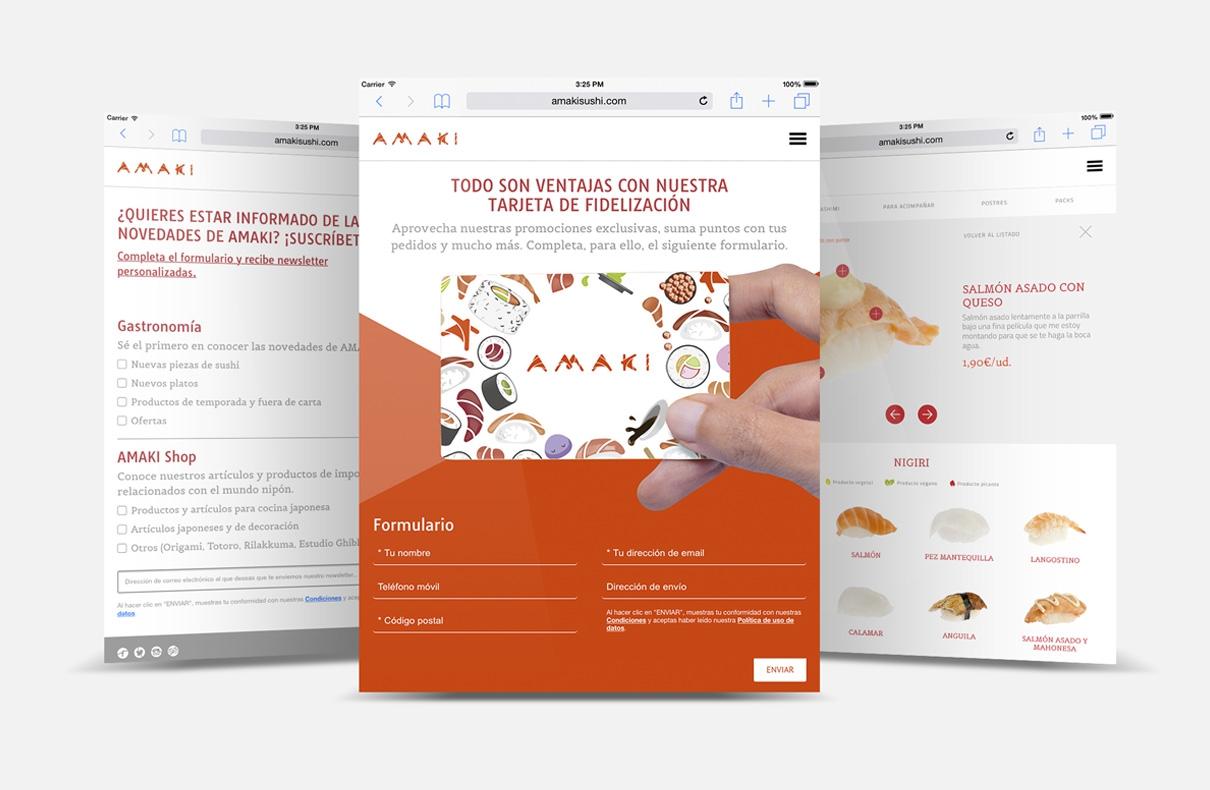 Diseño web amakisushi.com