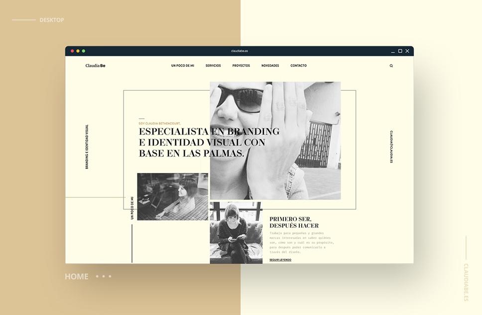 Rediseño web claudiabe.es